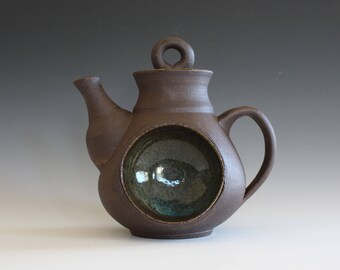 Full Moon Teapot, Ceramic Teapot, Handmade Stoneware Teapot, wheel thrown teapot, pottery teapot, stoneware teapot, unique teapot by Kazem