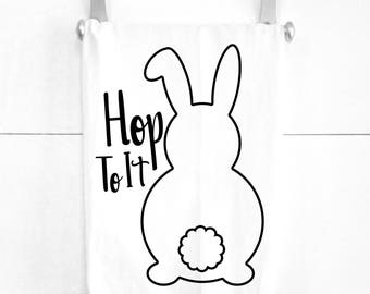 Bunny Butt Easter Kitchen Tea Towel Easter Dinner Decorations