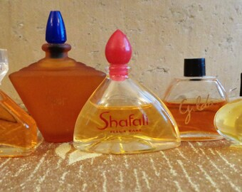 Vintage Perfumes 4 Mini Bottles Le Jour Gilda Shafali Mystere Rochas