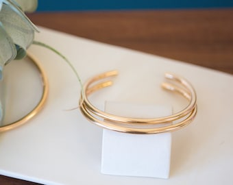 READY-TO-SHIP: Simple Yellow Gold-Fill Cuff Bracelet, Gold Cuff Bracelet, Cuff Bracelet, Minimalist Gold, Minimalist Bracelet