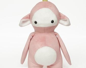 Stuffed monster toy - Monster softie - Plushie - Stuffed monster - Cute handmade plush monster - Bloom the Seedling