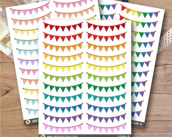 Bunting Stickers || DS001 || Planner Stickers