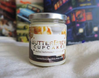 ButterBrew Cupcakes | Soy Candle | Wizard Beer | Book Candle |  Book Lover Gift | Literary Candle | Bookish Gift | CanterburyRoadCo