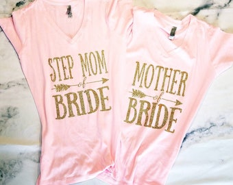Mother of the bride tank, bride tee, bride Tshirt, mother of the groom shirt, bride to be tank, inlaw shirt, mother of the bride, bride tank