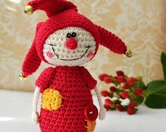 Crochet jester - crochet pattern, DIY