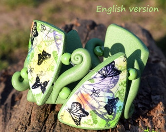 PDF tutorial Spring bangle from polymer clay