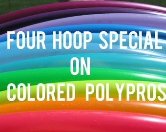 """Buy 4 Save 20% 3/4"""" POLYPRO Doubles Dance & Exercise Hula Hoop COLLAPSIBLE push button"""