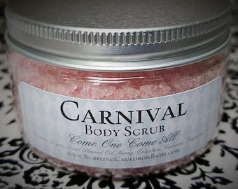 Carnival Body Scrub - Exfoliating Sugar Scrub - Cotton Candy Sugar Scrub