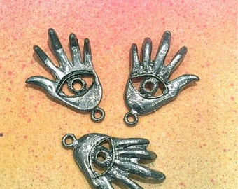Evil Eye Hand- 4 pieces-(Antique Pewter Silver Finish)