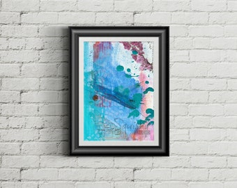 Archipelago - Giclee Fine Art Print of Mixed Media Painting