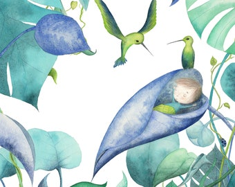 "Postcard ""Welcome birdy"""