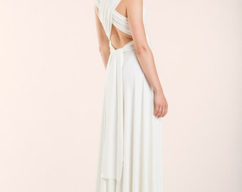 Infinity wedding dress, long white infinity dress, wedding dress, long infinity dress, off white wedding dress, infinity bridal gown, bride