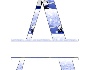 ABC Set2 Split Letter Monogram-Digital ClipArt-SVG-Art Clip-Snow-Gift Tag-Notebook-Scrapbook-banner-Christmas-gift card.
