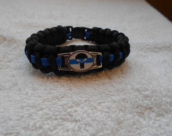 The Punisher Series - Charm # 4 - Paracord Bracelet - Hand Made