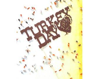 Turkey. Thanksgiving. Happy Thanksgiving. Thanksgiving Cake Topper. Cake Topper. Pie Topper. Thankful. Grateful. Fall. Autumn