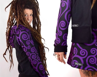 Hoodie SPIRAL PRINT - sudadera estampado espiral lila sweatshirt