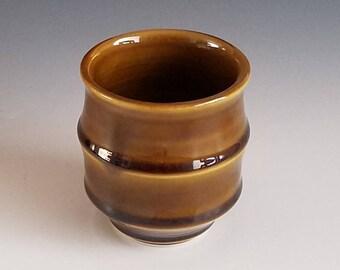 Handmade Ceramic Yunomi - Tea Cup - Amber