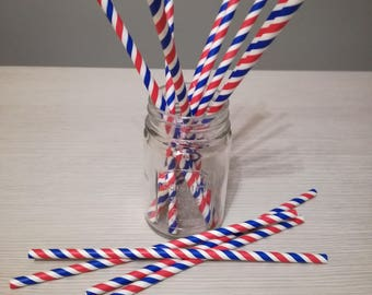 Paper straws American style