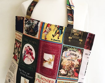 Book lovers gifts,Book Bag tote, Tote Bag, Book Lovers Bag, Literary gifts, Book covers Bag, Literary bag, By Rooby Lane