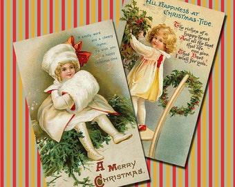 Vintage Christmas Collage Sheet 3