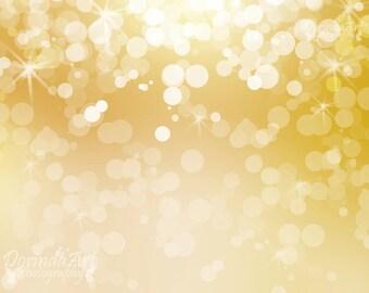 Bokeh background Digital print Gold Christmas overlays Christmas background Bokeh overlay Photo overlay background Sparkling Light overlay