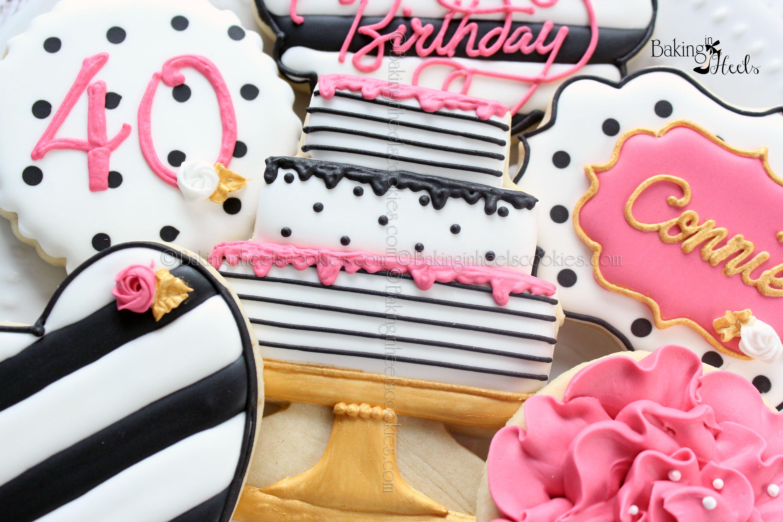 Kate Spade Birthdayinspired Cookies Birthday Cookies 40th