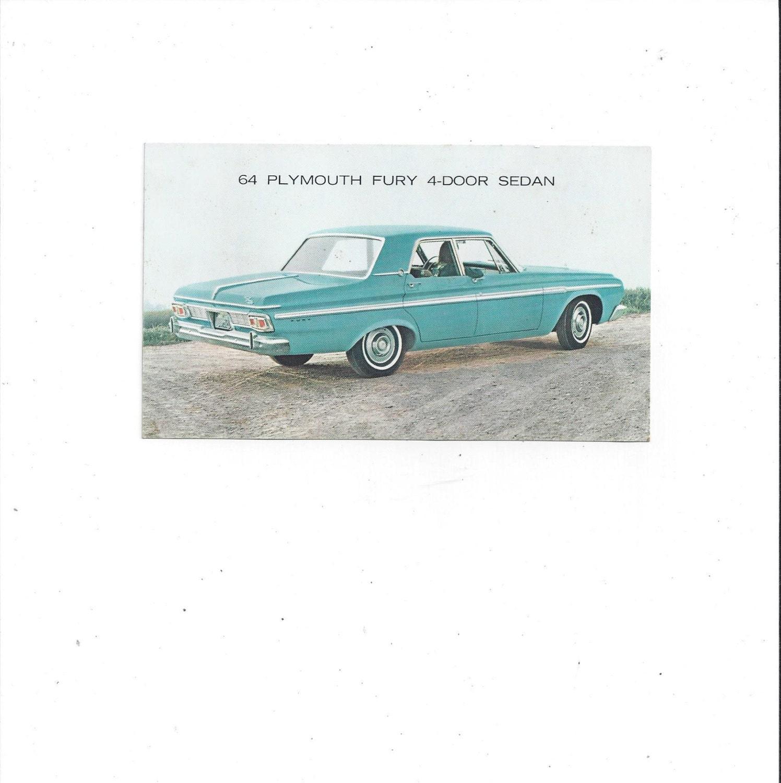 1964 Oldtimer Plymouth Fury 4 Tr Sedan Auto Postkarte In 1960 Savoy Zoomen