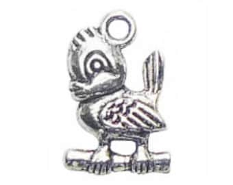 8 Silver Bird Charm Pendant 19x12mm by TIJC SP0598
