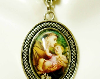 Saint Anthony pendant and chain - AP05-358