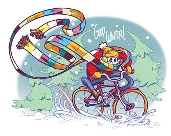 Good Winter - Snow Demon Holiday Print