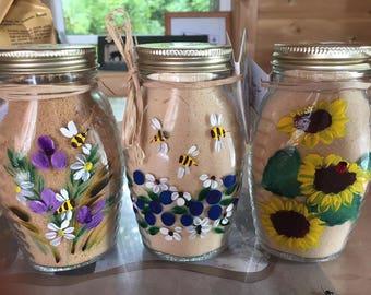 Hand painted maple sugar shaker