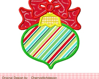 Christmas Ornaments Machine Embroidery Applique Design -4x4 5x5 6x6""