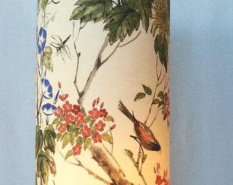Hand Painted Summer Bird Illuminated Art