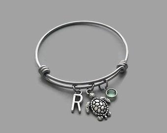 Sea Turtle Charm Bracelet, Sea Turtle Bracelet, Turtle Bracelet, Turtle Charm, Beach Charm, Beach Bracelet, Beach Bangle, Sea Turtle Bangle