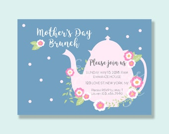 High Tea Mother's Day Brunch, Mother's Day Brunch Invitation, Mother's Day, Tea Party Invitation, Mother's Day Invite, Mother's Day Invites