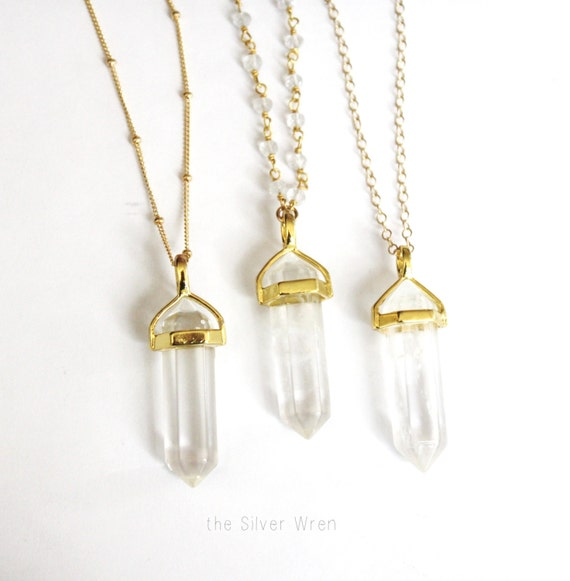 Long crystal necklace long necklace crystal pendant mozeypictures Image collections