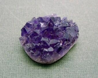 Purple Amethyst Druzy Cluster - Natural Raw Purple Amethyst Cluster (OB8B21)
