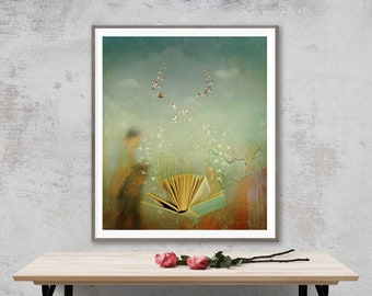Surreal Photo Fantasy Book lovers gift Fine Art Photo Butterfly Contemporary photography Bohemian wall art conceptual fantasy art gift