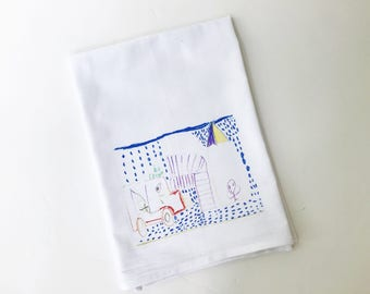 Personal Flour Sack Towel | Your Child's Artwork | Gifts under 15