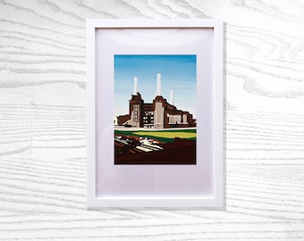 Limited Edition Battersea Power Station Fine Art Print