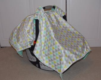Infant Car Seat Canopy // Car Seat Cover // Baby Carrier Cover