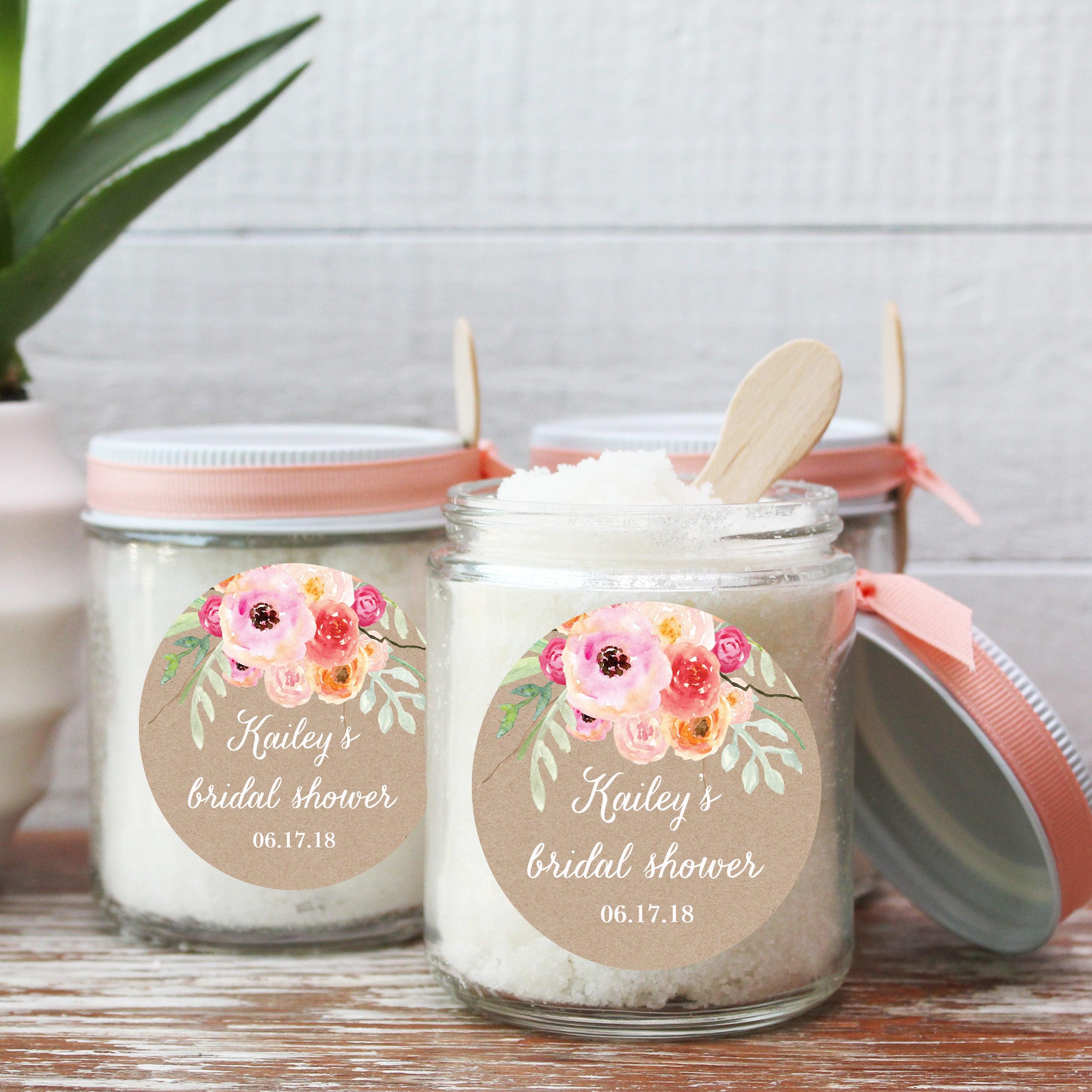 8 oz Sugar Scrub Favors All Natural Floral Bouquet Label