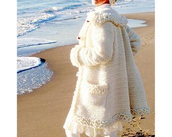 Cortina Coat - Crochet Pattern - Instant Download Pdf