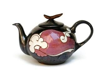 Ceramic Teapot, Glazed Teapot, Clay Teapot, Pottery, Glazed, Colorful Teapot, Stoneware Teapot, Tea Pot, Teapot, Ceramic and Pottery, Gift