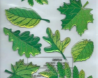 Stickers 3d embossed Sticko leaf spring for scrapbooking