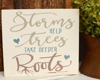 Wood Sign - Wooden Sign - Home Decor - Shelf Sitter - Inspirational Sign - Motivational Sign - Tree Wood Sign - Inspirational Gift - Decor