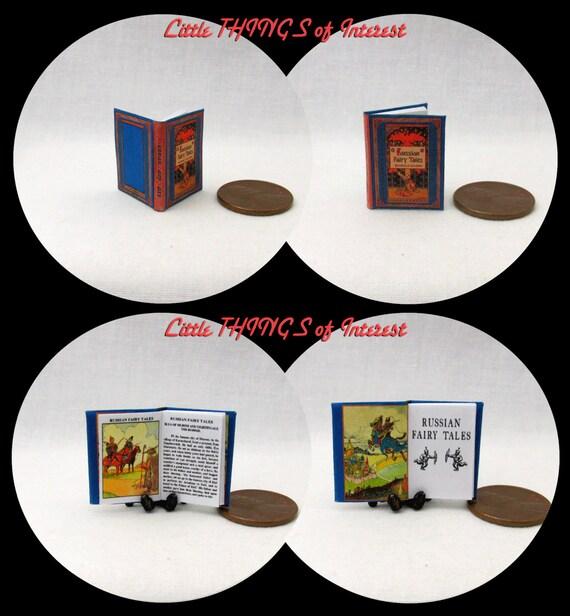 RUSSIAN FAIRY TALES Miniature Book Dollhouse 1:12 Scale Illustrated Book Children's Book