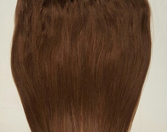 "20"" Weft Hair, 100grs,Weft Weaving (Without Clips),100% Human Hair Extensions #4 Dark Brown"