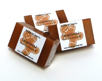 Gingerbread Mini GUEST BAR Handmade Vegan Glycerin Soap