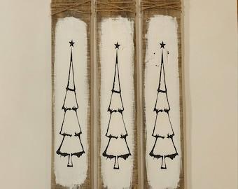 Christmas tree pallet*Pallet sign*repurposed pallet*christmas tree painting*christmas tree sign*wooden christmas tree painting*free shipping